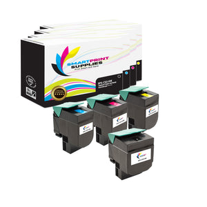 4 Pack Lexmark CS310 Replacement Yellow Toner Cartridge by Smart Print Supplies