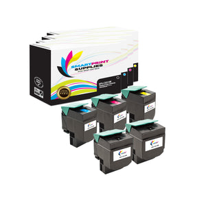 5 Pack Lexmark CS310 Replacement (CMYK) Toner Cartridge by Smart Print Supplies