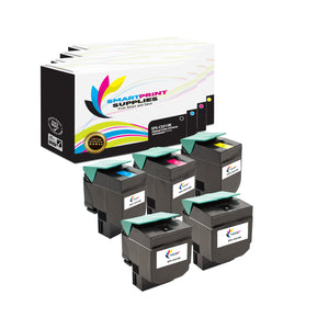 5 Pack Lexmark CS510 Replacement (CMYK) Toner Cartridge by Smart Print Supplies