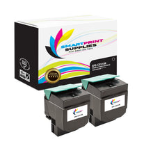 2 Pack Lexmark CS510 Replacement Black Toner Cartridge by Smart Print Supplies