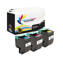 3 Pack Lexmark CS510 Replacement (CMY) Toner Cartridge by Smart Print Supplies