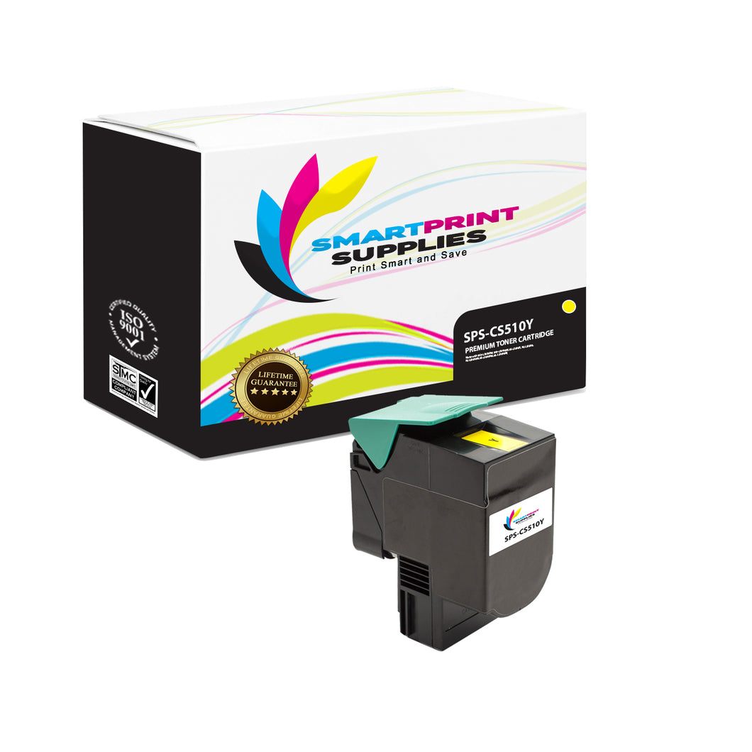 Lexmark CS510 Replacement Yellow Toner Cartridge by Smart Print Supplies