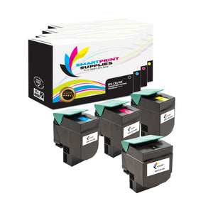 4 Pack Lexmark CX310 Replacement (CMYK) Toner Cartridge by Smart Print Supplies
