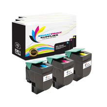 3 Pack Lexmark CX310 Replacement (CMY) Toner Cartridge by Smart Print Supplies