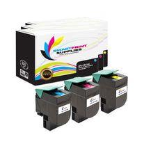 3 Pack Lexmark CX410 Replacement (CMY) Toner Cartridge by Smart Print Supplies