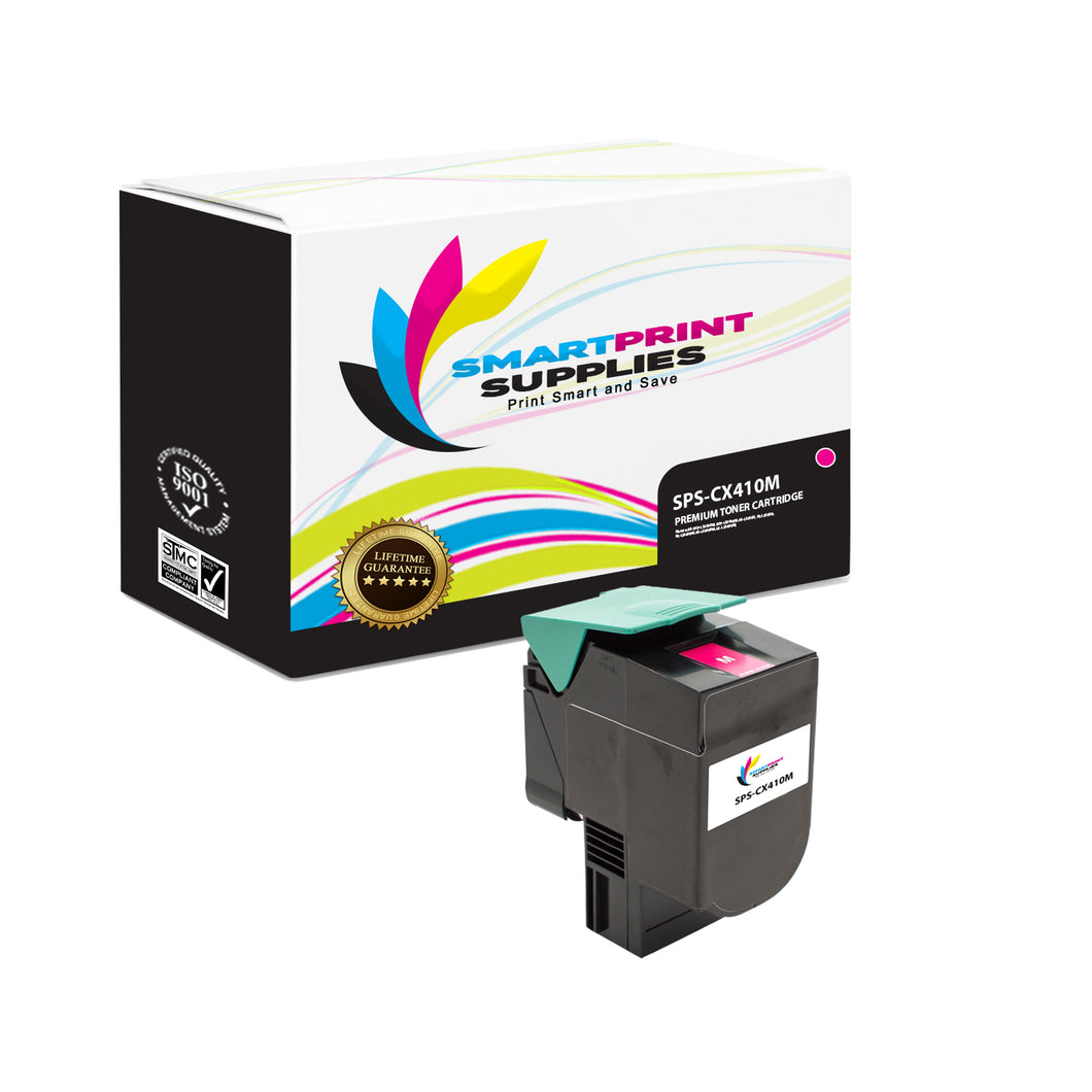 Lexmark CX410 Replacement Magenta Toner Cartridge by Smart Print Supplies