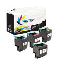 4 Pack Lexmark CX510 Replacement (CMYK) Toner Cartridge by Smart Print Supplies