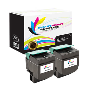 2 Pack Lexmark CX510 Replacement Black Toner Cartridge by Smart Print Supplies