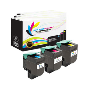 3 Pack Lexmark CX510 Replacement (CMY) Toner Cartridge by Smart Print Supplies
