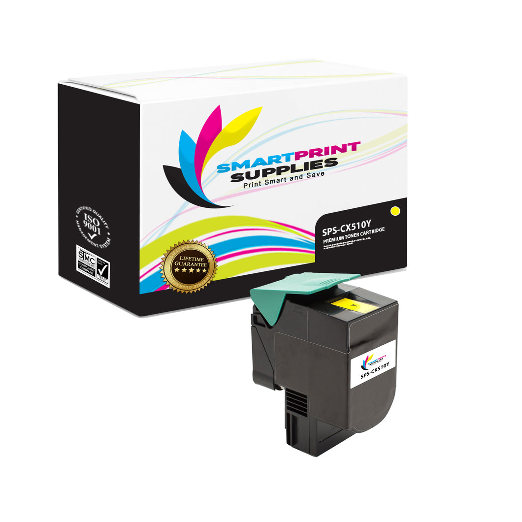 Lexmark CX510 Replacement Yellow Toner Cartridge by Smart Print Supplies