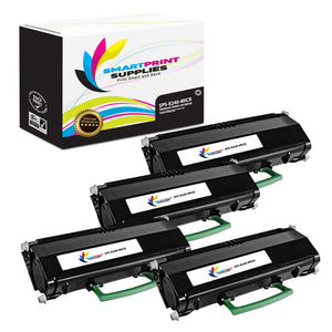 4 Pack Lexmark E240 Replacement Black MICR Toner Cartridge by Smart Print Supplies