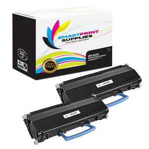 2 Pack Lexmark E250 Replacement Black Toner Cartridge by Smart Print Supplies