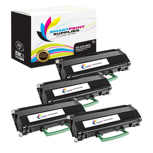 4 Pack Lexmark E250 Replacement Black MICR Toner Cartridge by Smart Print Supplies