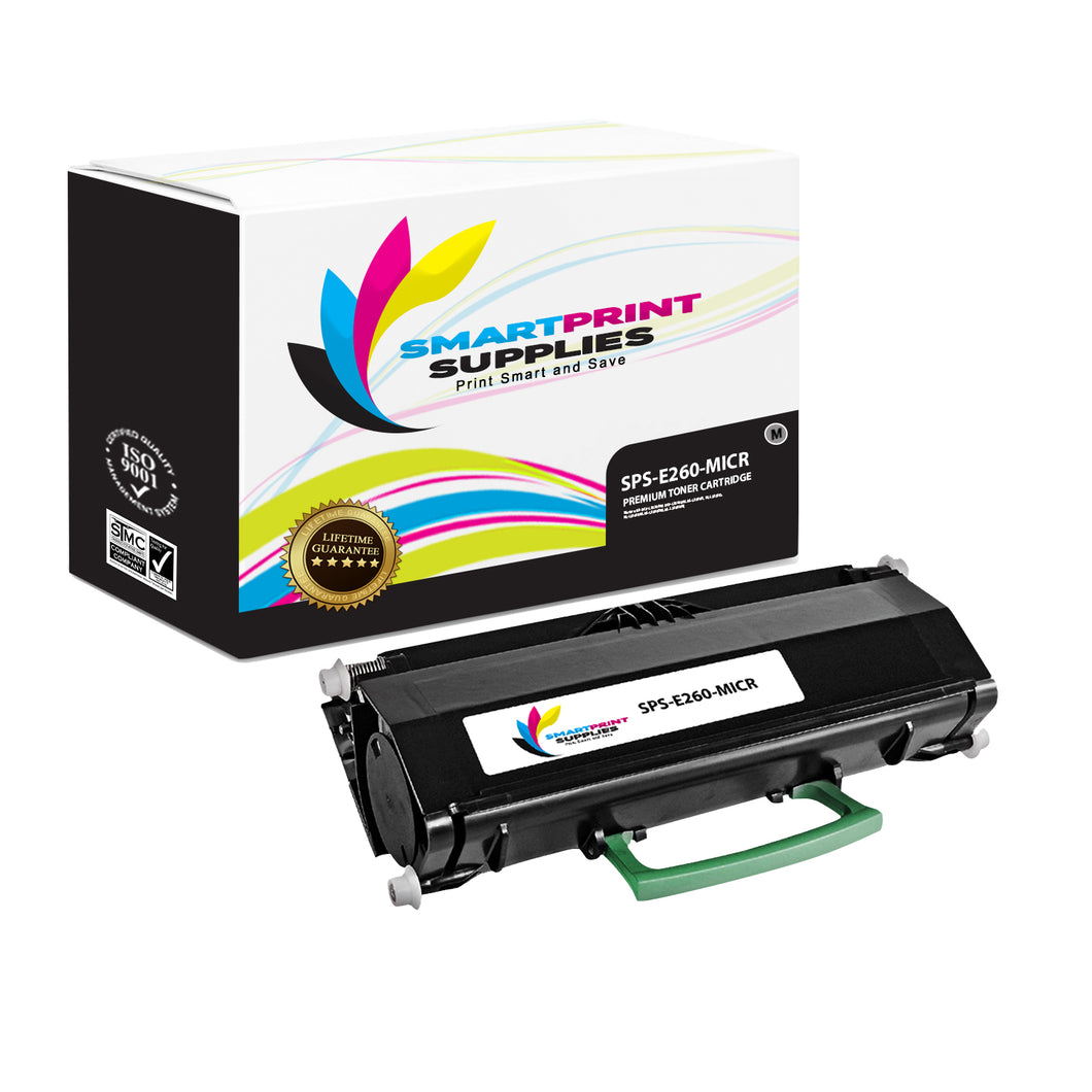 Lexmark E260 Replacement Black MICR Toner Cartridge by Smart Print Supplies