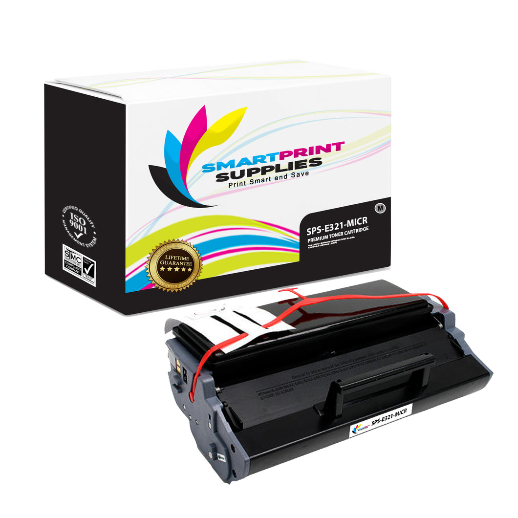 Lexmark E321 Replacement Black MICR Toner Cartridge by Smart Print Supplies