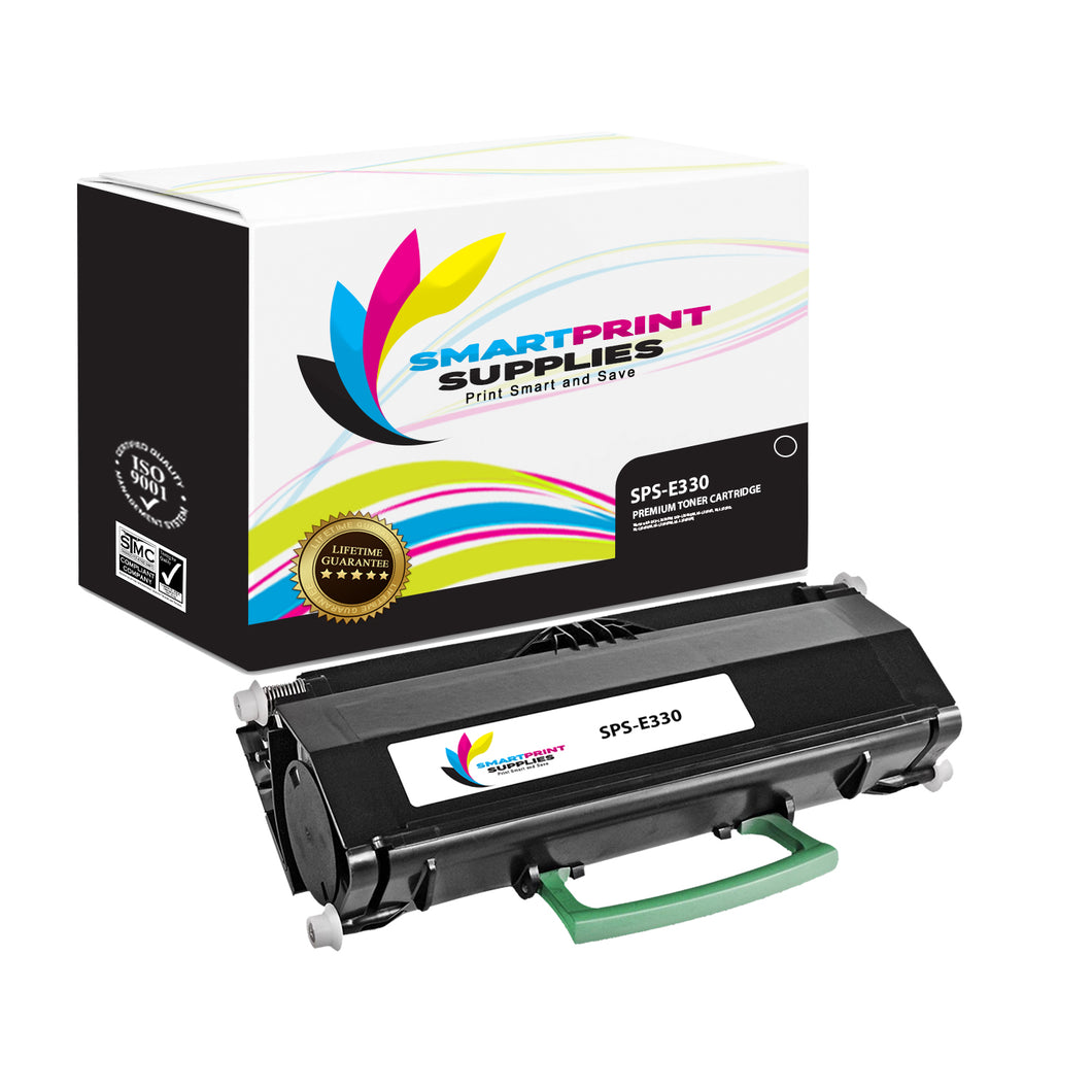 Lexmark E330 Replacement Black Toner Cartridge by Smart Print Supplies