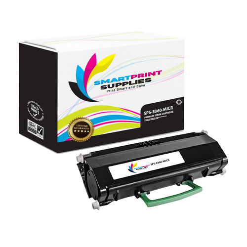 Lexmark E360 Replacement Black MICR Toner Cartridge by Smart Print Supplies
