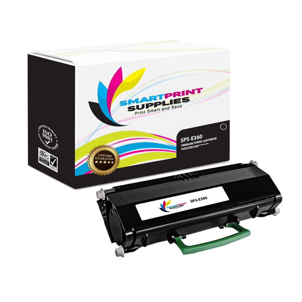 Lexmark E360 Replacement Black Toner Cartridge by Smart Print Supplies