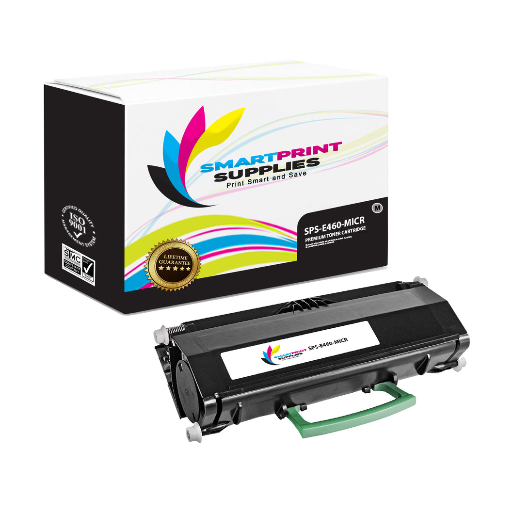 Lexmark E460 Replacement Black MICR Toner Cartridge by Smart Print Supplies