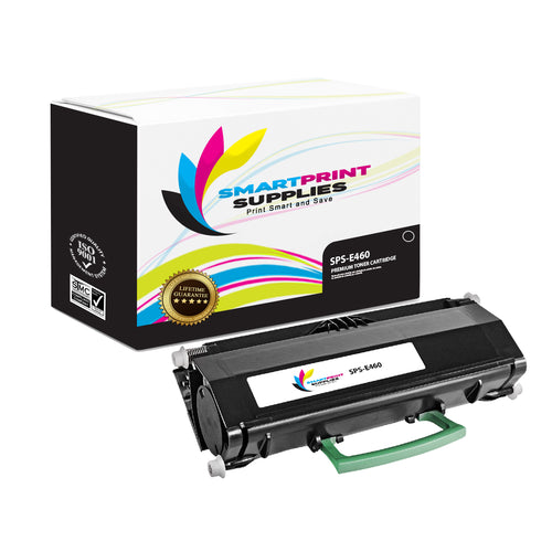 Lexmark E460 Replacement Black Toner Cartridge by Smart Print Supplies