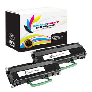 2 Pack Lexmark E462 Replacement Black Toner Cartridge by Smart Print Supplies