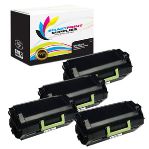 4 Pack Lexmark MS810 Replacement Black Toner Cartridge by Smart Print Supplies