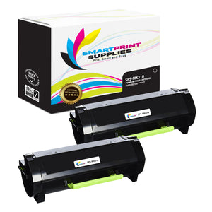 2 Pack Lexmark MX310 Replacement Black Toner Cartridge by Smart Print Supplies