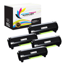 4 Pack Lexmark MX310 Replacement Black Toner Cartridge by Smart Print Supplies