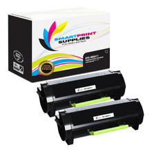 2 Pack Lexmark MX611 Replacement Black Toner Cartridge by Smart Print Supplies