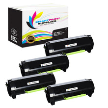 4 Pack Lexmark MX611 Replacement Black Toner Cartridge by Smart Print Supplies