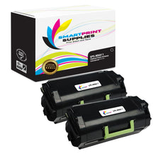 2 Pack Lexmark MX811 Replacement Black Toner Cartridge by Smart Print Supplies