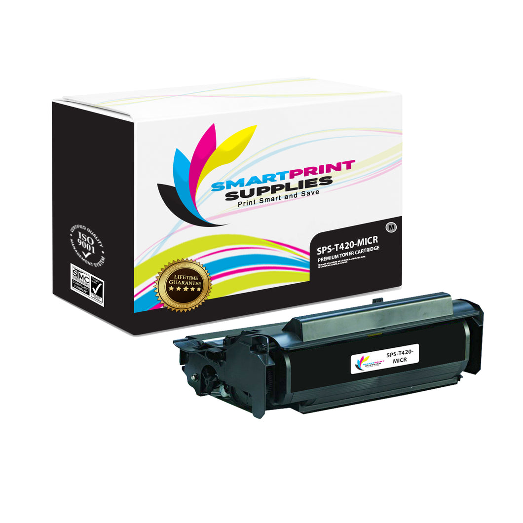 Lexmark T420 Replacement Black MICR Toner Cartridge by Smart Print Supplies