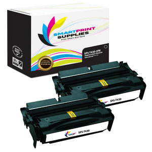 2 Pack Lexmark T430 Replacement Black Toner Cartridge by Smart Print Supplies
