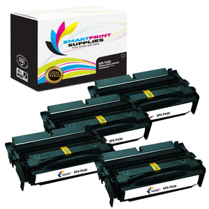 4 Pack Lexmark T430 Replacement Black Toner Cartridge by Smart Print Supplies