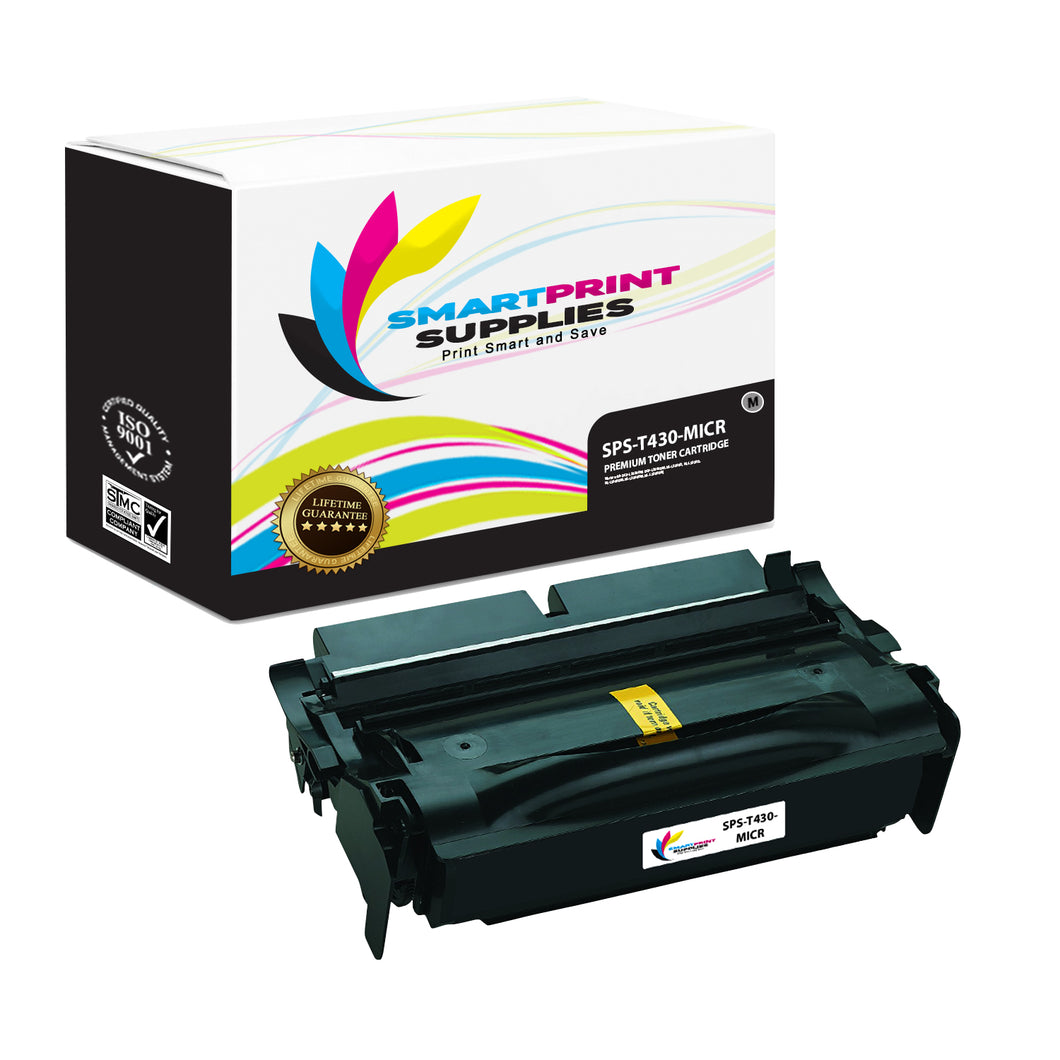 Lexmark T430 Replacement Black MICR Toner Cartridge by Smart Print Supplies