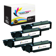 4 Pack Lexmark T520 Replacement Black Toner Cartridge by Smart Print Supplies