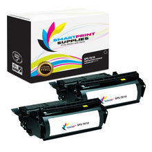 2 Pack Lexmark T610 Replacement Black Toner Cartridge by Smart Print Supplies