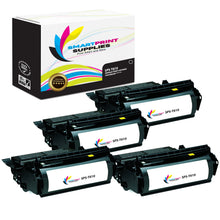 4 Pack Lexmark T610 Replacement Black Toner Cartridge by Smart Print Supplies