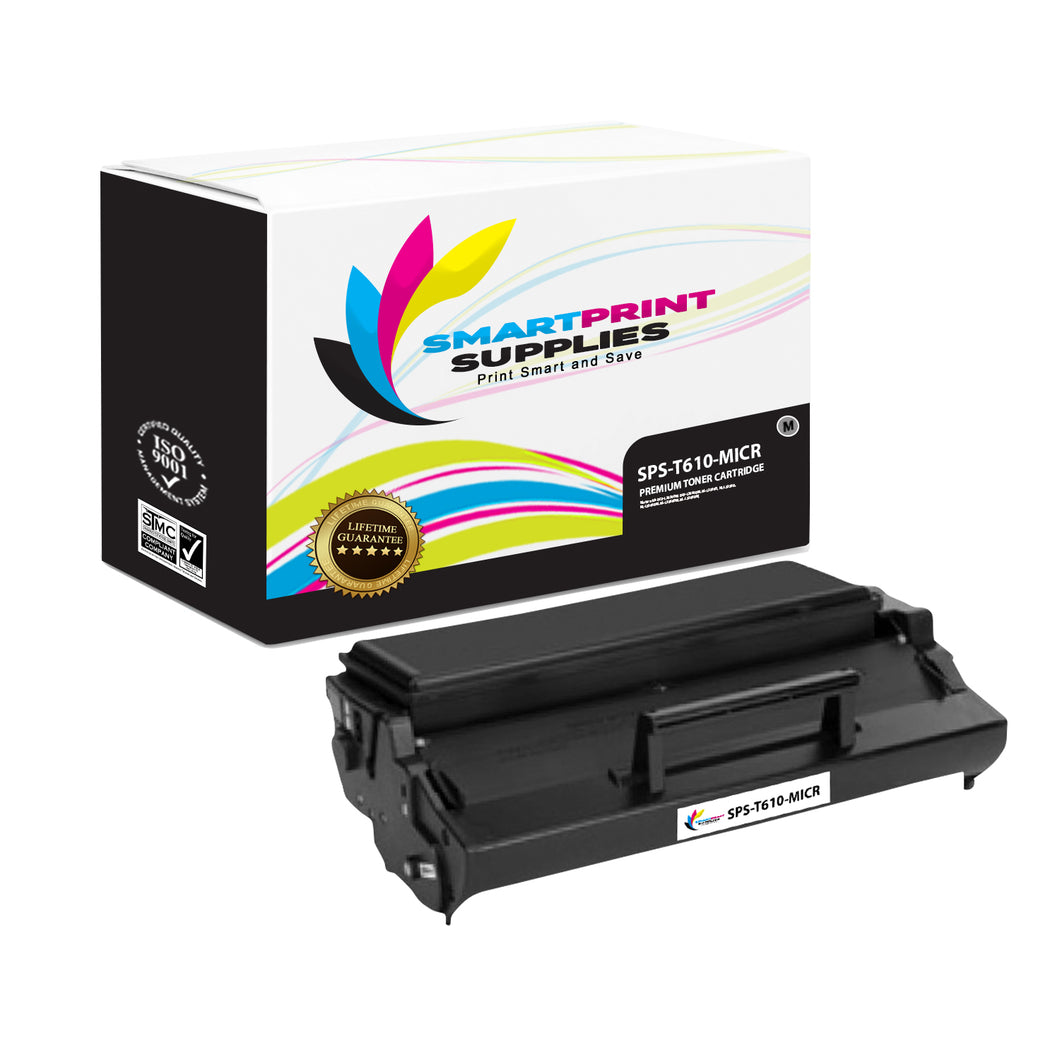 Lexmark T610 Replacement Black MICR Toner Cartridge by Smart Print Supplies