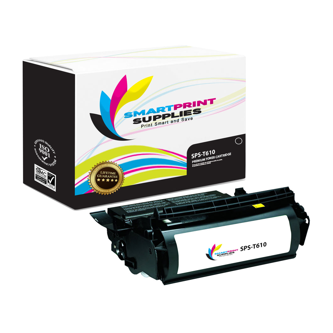 Lexmark T610 Replacement Black Toner Cartridge by Smart Print Supplies