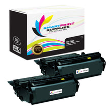 2 Pack Lexmark T620 Replacement Black Toner Cartridge by Smart Print Supplies