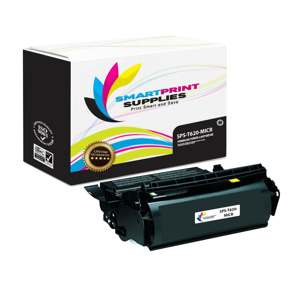 Lexmark T620 Replacement Black MICR Toner Cartridge by Smart Print Supplies