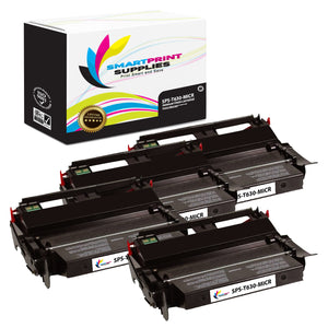 4 Pack Lexmark T630 Replacement Black MICR Toner Cartridge by Smart Print Supplies