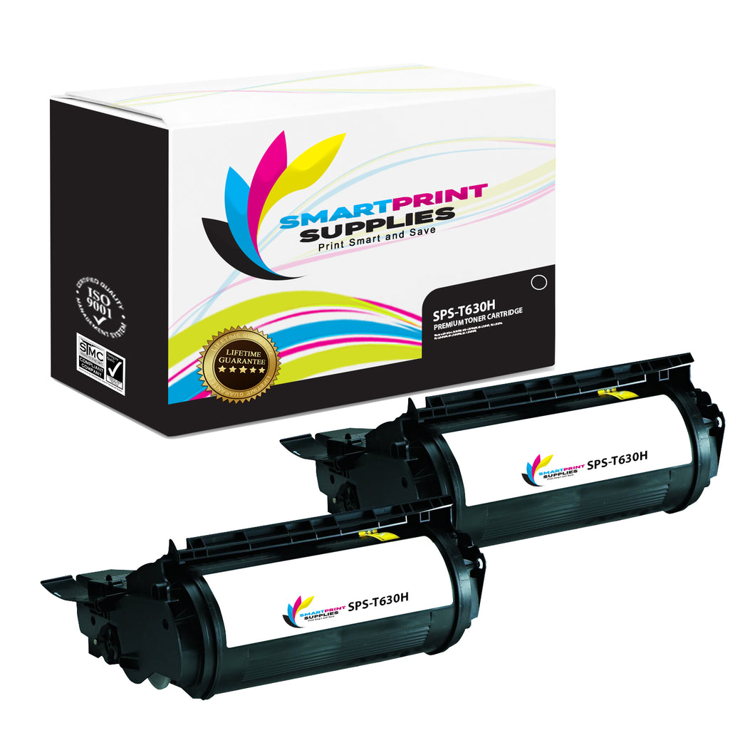 2 Pack Lexmark 12A7462 Replacement Black Toner Cartridge by Smart Print Supplies