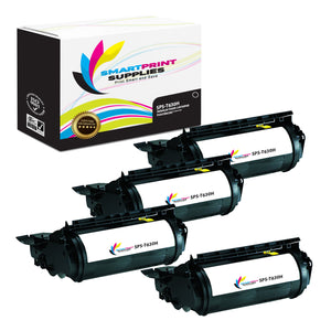 4 Pack Lexmark 12A7462 Replacement Black Toner Cartridge by Smart Print Supplies