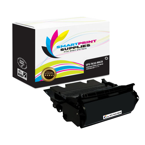 Lexmark T630 12A7365 Replacement Black MICR Toner Cartridge by Smart Print Supplies