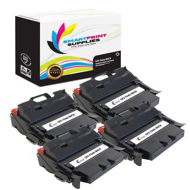 4 Pack Lexmark T640 Replacement Black MICR Toner Cartridge by Smart Print Supplies