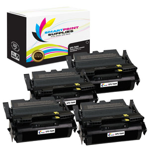 4 Pack Lexmark T644 Replacement Black Toner Cartridge by Smart Print Supplies