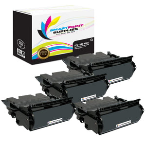 4 Pack Lexmark T644 Replacement Black MICR Toner Cartridge by Smart Print Supplies