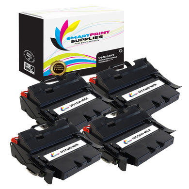 4 Pack Lexmark T650 Replacement Black MICR Toner Cartridge by Smart Print Supplies